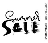 summer sale handwritten... | Shutterstock .eps vector #1012462600