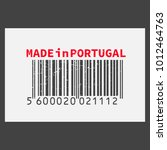 vector realistic barcode  made... | Shutterstock .eps vector #1012464763