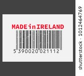 vector realistic barcode  made... | Shutterstock .eps vector #1012464769