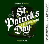 st. patrick's day celebration...   Shutterstock .eps vector #1012468144