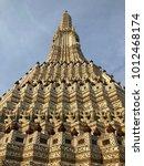 pagodas at temple of dawn  wat... | Shutterstock . vector #1012468174