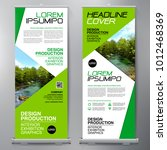 business roll up. standee... | Shutterstock .eps vector #1012468369