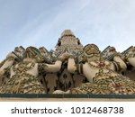 pagodas at temple of dawn  wat... | Shutterstock . vector #1012468738