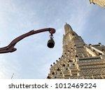 pagodas at temple of dawn  wat... | Shutterstock . vector #1012469224
