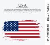 grunge american flag.vector... | Shutterstock .eps vector #1012476883