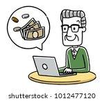 senior male  senior woman  pc...   Shutterstock .eps vector #1012477120