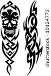 skull tribal tattoo | Shutterstock .eps vector #10124773