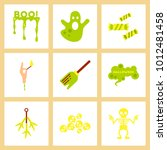 assembly flat icons halloween... | Shutterstock .eps vector #1012481458