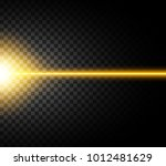 abstract yellow laser beam.... | Shutterstock .eps vector #1012481629