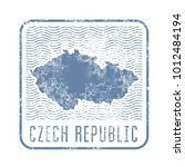 czech travel stamp with... | Shutterstock .eps vector #1012484194