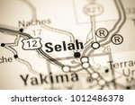 Small photo of Selah. Washington State on a map.
