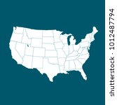 united states of america map.... | Shutterstock .eps vector #1012487794