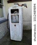 vintage petrol pump | Shutterstock . vector #1012489894