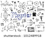 physics science doodle  | Shutterstock .eps vector #1012489918