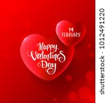 amazing hearts for valentines... | Shutterstock .eps vector #1012491220