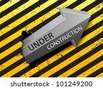 under construction arrow vector | Shutterstock .eps vector #101249200