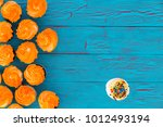 colorful cupcakes with bright... | Shutterstock . vector #1012493194