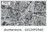 munich germany city map in... | Shutterstock .eps vector #1012493560