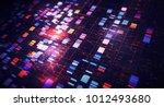 blockchain network concept  ... | Shutterstock . vector #1012493680
