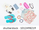 summer fashion life style ... | Shutterstock . vector #1012498219