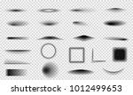 set of realistic vector shadows ...   Shutterstock .eps vector #1012499653
