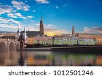 panoramic view of heidelberg... | Shutterstock .eps vector #1012501246