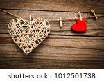 happy valentine's day in love... | Shutterstock . vector #1012501738