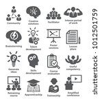 business management icons pack... | Shutterstock . vector #1012501759