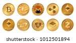 cryptocurrency logo set  ... | Shutterstock .eps vector #1012501894