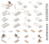 living room low poly isometric... | Shutterstock .eps vector #1012503724