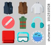 icons set about winter with... | Shutterstock .eps vector #1012510528