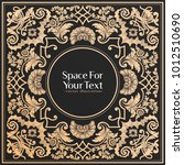 vector vintage luxury label... | Shutterstock .eps vector #1012510690