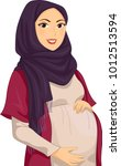 illustration of a pregnant... | Shutterstock .eps vector #1012513594