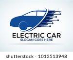 electric car logo.  vector... | Shutterstock .eps vector #1012513948
