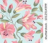 floral seamless pattern. flower ... | Shutterstock .eps vector #1012514599