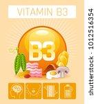 nicotinic acid vitamin b3 rich... | Shutterstock .eps vector #1012516354