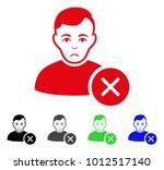 unhappy user delete vector icon.... | Shutterstock .eps vector #1012517140