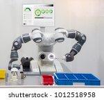 industry 4.0 robot concept .the ... | Shutterstock . vector #1012518958