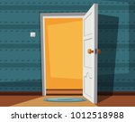open door. cartoon vector... | Shutterstock .eps vector #1012518988