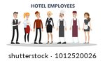 hotel staff set. maids and... | Shutterstock .eps vector #1012520026