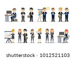 business people at the office... | Shutterstock .eps vector #1012521103
