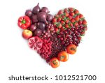 red fruits  vegetables and... | Shutterstock . vector #1012521700