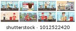food delivery to office set....   Shutterstock .eps vector #1012522420