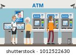atm in bank. consultant with... | Shutterstock .eps vector #1012522630