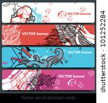 vector set of abstract... | Shutterstock .eps vector #101252284