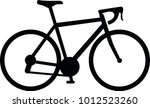 racing bike icon in black | Shutterstock .eps vector #1012523260