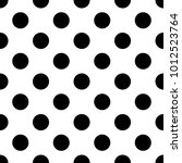 seamless pattern with polka dot.... | Shutterstock .eps vector #1012523764