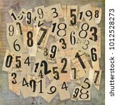 numerology  magic of numbers  ... | Shutterstock . vector #1012528273