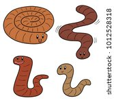 vector set of worm | Shutterstock .eps vector #1012528318