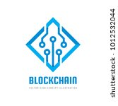 blockchain   concept business... | Shutterstock .eps vector #1012532044